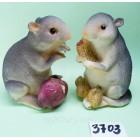 Сувенир статуэтка керамическая с символом 2020 года Крысы 8,5*6 см