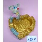 Статуэтка -Пепельница керамическая с символом 2020 года Крысы 7*7,5 см
