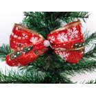 Новогоднее украшение Бант дед мороз красный 14*9 см