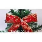 Новогоднее украшение Бант красный орнамент 16*9 см