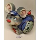 Копилка керамическая с символом 2020 года Крысы 10,5*10,5 см