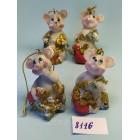 Статуэтки-подвески сувениры Мышка малютка 5*3 см