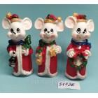 Статуэтки сувениры Крысы Дед Мороз 8,5*3,5 см