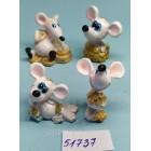 Статуэтки сувениры Крыски маленькие 2,5*5 см