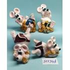 Статуэтки сувениры Крысы 6*4,5 см