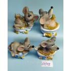 Статуэтки сувениры Крыса в ванне 5*6 см
