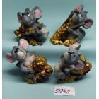 Статуэтки сувениры Крысы денежные 6*6 см