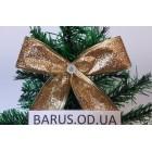 Новогоднее украшение Бант золото металлик  14*10 см