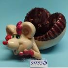Статуэтка-Пепельница керамическая с символом 2020 года Крысы 5,5*10,5 см