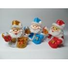 Свеча декоративная Дед Мороз с елкой  10*8*7 см