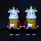 Новогодние игрушки  на елку Бык в штанишках 14 см
