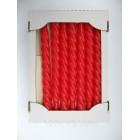 Свеча декоративная витая лаковая красная 25 см качество