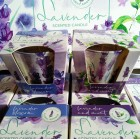 Свечи ароматизированные в стакане BARTEK Лаванда