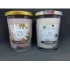Свечи ароматизированные  в стакане Биспол Bispol SPA 340 г 68 часов горения