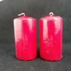 Свеча столбик лаковый красный 10*5 см