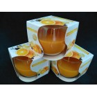 Свечи ароматизированные в стаканах  Bispol Польша Апельсин с Ванилью