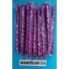 Новогодние Свечи декоративные перламутр фиолетовые 45 штук