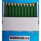 Свечи декоративные темно-зеленые столовые 18 см