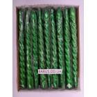 Новогодние Свечи декоративные перламутр зеленые 45 штук