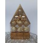Новогодние игрушки на елку Набор Домик золото 12 штук