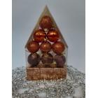 Новогодние игрушки на елку Набор Домик бронза 12 штук