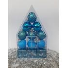 Новогодние игрушки на елку Набор Домик синий 12 штук