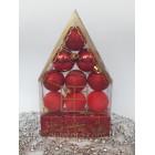 Новогодние игрушки на елку Набор Домик красный 12 штук