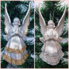 Новогодние игрушки на елку Ангел большой 14*7 см