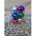 Новогодние игрушки на елку Набор Шарики ассорти 12 штук 2,5 см
