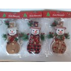Новогодние игрушки на елку  Снеговики ассорти 20 см*10 см