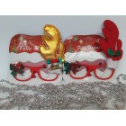 Маска-очки Санта Клауса на Новый Год 14 см