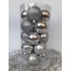 Наборы игрушки на елку шары серебро 20 шт 5 см