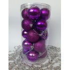 Набор игрушек на елку Шары фиолетовые 20 шт 5 см