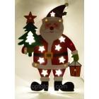 Новогоднее украшение Светящийся Дед Мороз размер 35*25 см