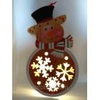 Новогоднее украшение Светящийся Снеговик размер 35*20  см