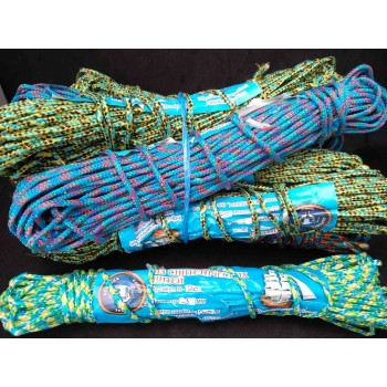 Веревка бельевая шнур жесткий 3 мм*20 м зебра В-20