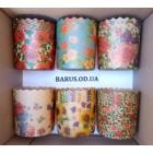 Формы для выпечки бумажные пергамент   90*85 Цветы