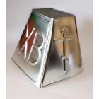 Форма металлическая для сырной пасхи большая  размер 12,5*15,5*9,5