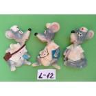 Магниты на холодильник керамика год крысы символ 2020 7,5*4,5 см микс