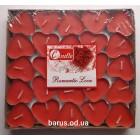 Свеча чайная  таблетка сердце 50 штук красные