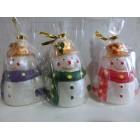 Свечи декоративные  новогодние Снеговик 8*6 см