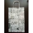 Бумажные крафт пакеты 24*35 с ручками Газета