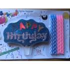 Свечи для торта Хеппи бездэй  Happy birthday + 6 спичек со светонакопителем НОВИНКА
