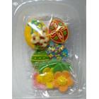 Пасхальное украшение из сахарной  мастики  набор №2 Яйца с цветами