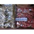 Новогоднее украшение на елку Бант золотисто-красный парча 20 штук/ упаковка