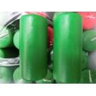 Свеча декоративная столбик  11*5 см зеленый качество 12 часов