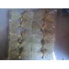 Новогодние украшения на елку сосну бант сеточка золото